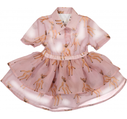 Caroline Bosmans 粉色小鹿连衣裙
