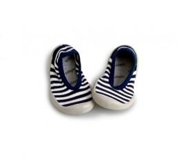 Collegien 蓝色条纹浅口室内鞋