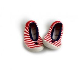 Collegien 红色条纹浅口室内鞋