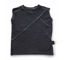 NUNUNU 灰色无袖T恤
