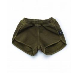 NUNUNU 绿色短裤