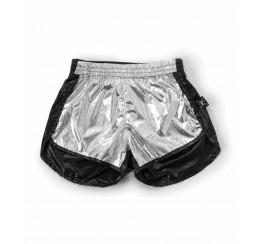 NUNUNU 拼色尼龙短裤