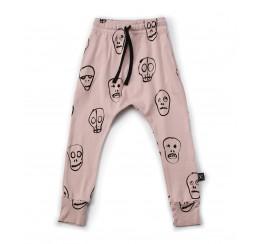 NUNUNU 粉色骷髅长裤