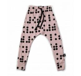 NUNUNU 粉色盲文长裤