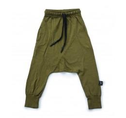 NUNUNU 绿色长裤