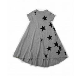 NUNUNU 灰色星星360连衣裙