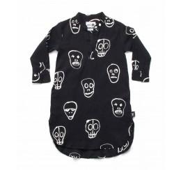 NUNUNU 18 resort 黑色骷髅面具kaftan