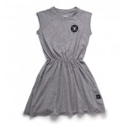 NUNUNU 灰色无袖连衣裙