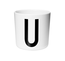Design Letters Melamine Cup U
