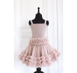 DOLLY by Le Petit Tom  FRILLY SET SKIRT & TOP ballet pink