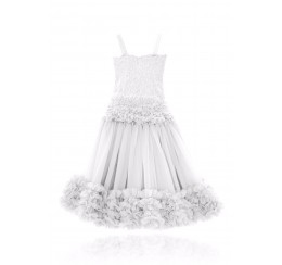 DOLLY by Le Petit Tom  FRILLY SET SKIRT & TOP OFF-WHITE