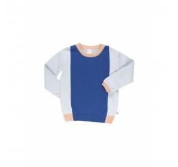 TINYCOTTONS 蓝色拼色毛衣