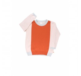 TINYCOTTONS 粉色拼色毛衣