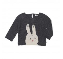OEUF NYC 深灰色兔子羊驼毛衣