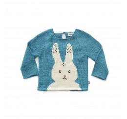 OEUF NYC 蓝色兔子羊驼毛衣