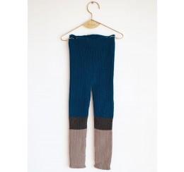Wolf & Rita 针织毛线长裤蓝色拼接