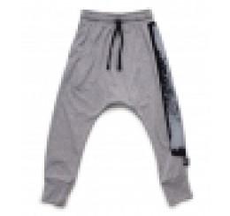 NUNUNU 灰色印花卫裤