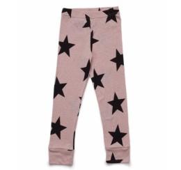 NUNUNU 粉色星星打底裤