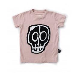 NUNUNU 粉色骷髅T恤