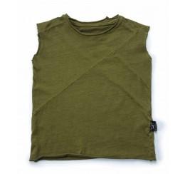 NUNUNU 绿色无袖T恤