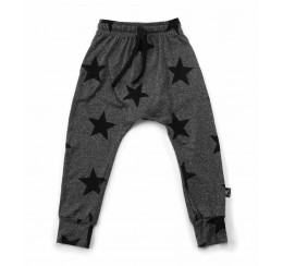 NUNUNU 碳灰星星长裤