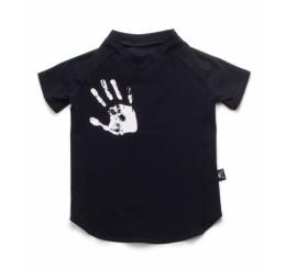 NUNUNU 黑色手掌短袖冲锋衣
