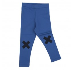 TINYCOTTONS 蓝色 LOGO 打底裤