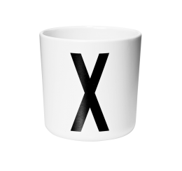 Design Letters Melamine Cup X